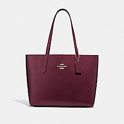 COACH F37871 - AVENUE TOTE RASPBERRY/METALLIC RASPBERRY/LIGHT GOLD