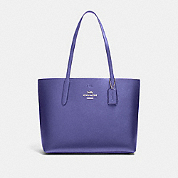 AVENUE TOTE - F37871 - METALLIC PERIWINKLE/LIGHT PURPLE/SILVER