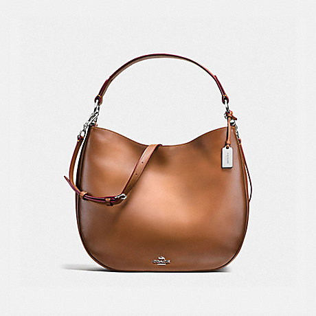 COACH f37905 MAE HOBO SILVER/SADDLE