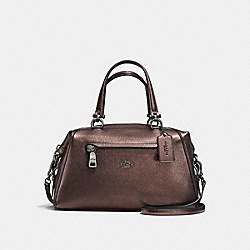 PRIMROSE SATCHEL IN PEBBLE LEATHER - f37934 - DARK GUNMETAL/BRONZE