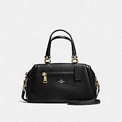 PRIMROSE SATCHEL IN PEBBLE LEATHER - f37934 - LIGHT GOLD/BLACK