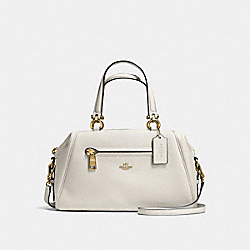 PRIMROSE SATCHEL IN POLISHED PEBBLE LEATHER - f37934 - LIGHT GOLD/CHALK