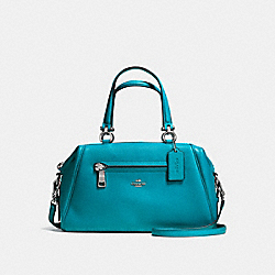 PRIMROSE SATCHEL IN PEBBLE LEATHER - f37934 - SILVER/TURQUOISE