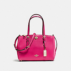 COACH F37937 - TURNLOCK CARRYALL 26 IN CROSSGRAIN LEATHER LIGHT GOLD/CERISE
