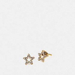 COACH F37961 Star Earrings GOLD