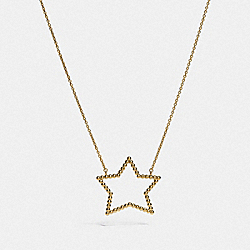 COACH F37962 Oversized Star Necklace GOLD