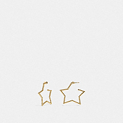 OVERSIZED STAR EARRINGS - F37963 - GOLD