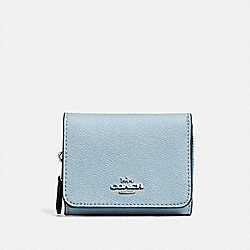 COACH F37968 Small Trifold Wallet SV/PALE BLUE
