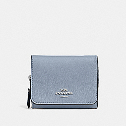 COACH F37968 Small Trifold Wallet STEEL BLUE