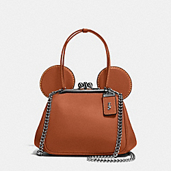 MICKEY KISSLOCK BAG IN GLOVETANNED LEATHER - f37980 - DK/1941 Saddle