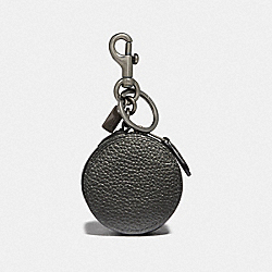COACH F37994 Mini Zip Case METALLIC GUNMETAL/BLACK ANTIQUE NICKEL