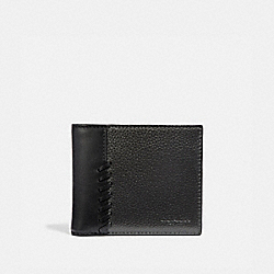 COACH F38021 3-in-1 Wallet With Baseball Stitch METALLIC GUNMETAL/BLACK ANTIQUE NICKEL