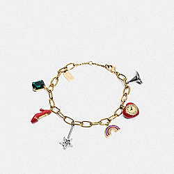 COACH F38034 - WIZARD OF OZ CHARM BRACELET MULTI/GOLD