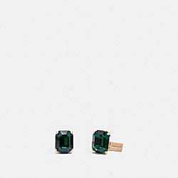 EMERALD EARRINGS - F38036 - GREEN/GOLD