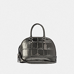 COACH F38043 Micro Mini Sierra Satchel GUNMETAL/SILVER