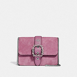 BOWERY CROSSBODY WITH JEWEL BUCKLE - F38048 - PRIMROSE/SILVER