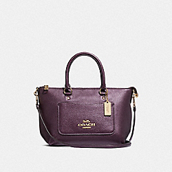 COACH F38053 - MINI EMMA SATCHEL METALLIC RASPBERRY/LIGHT GOLD