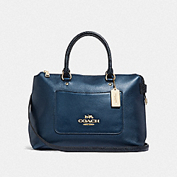 COACH F38054 Emma Satchel METALLIC DENIM/LIGHT GOLD