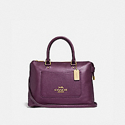 COACH F38058 - EMMA SATCHEL METALLIC RASPBERRY/LIGHT GOLD