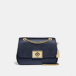 CASSIDY CROSSBODY - F38073 - METALLIC DENIM/LIGHT GOLD
