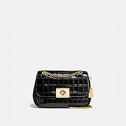 CASSIDY CROSSBODY - F38081 - BLACK/LIGHT GOLD