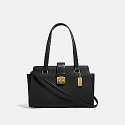 AVARY CARRYALL - F38082 - BLACK/LIGHT GOLD
