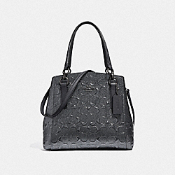 COACH F38092 - MINETTA CROSSBODY IN SIGNATURE LEATHER CHARCOAL/BLACK ANTIQUE NICKEL