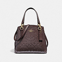 COACH F38093 - MINETTA CROSSBODY IN SIGNATURE LEATHER OXBLOOD 1/LIGHT GOLD