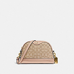 IVIE CROSSBODY IN SIGNATURE JACQUARD - F38113 - LIGHT KHAKI/BEECHWOOD/LIGHT GOLD