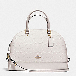 COACH F38120 - SIERRA SATCHEL IN DEBOSSED PATENT LEATHER  IMITATION GOLD/CHALK
