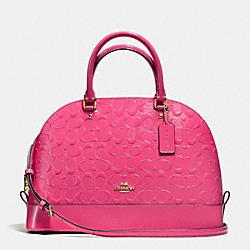 COACH F38120 - SIERRA SATCHEL IN DEBOSSED PATENT LEATHER  IMITATION GOLD/DAHLIA