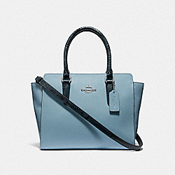 LEAH SATCHEL - F38137 - CORNFLOWER/MIDNIGHT/SILVER