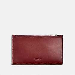 ZIP CARD CASE - F38144 - RED CURRANT