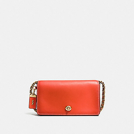COACH F38185 DINKY IN BURNISHED GLOVETANNED LEATHER OLD-BRASS/PEPPER