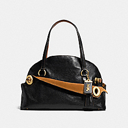 COACH F38192 - OUTLAW SATCHEL 42 BLACK/OLD BRASS