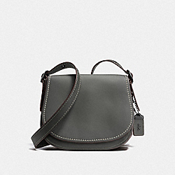 COACH F38198 Saddle 23 BP/HEATHER GREY