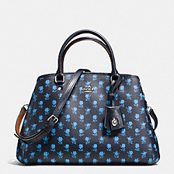 COACH F38215 - SMALL MARGOT CARRYALL IN BADLANDS FLORAL PRINT COATED CANVAS SILVER/MIDNIGHT MULTI