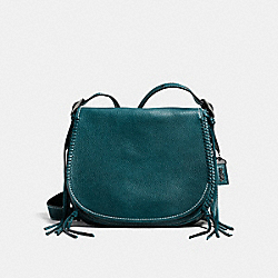 COACH SADDLE WITH WHIPLASH DETAIL - MINERAL/DARK GUNMETAL - F38219