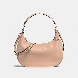 COACH EAST/WEST HARLEY HOBO IN POLISHED PEBBLE LEATHER - IMITATION GOLD/NUDE PINK - F38250