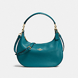 COACH F38250 Harley East/west Hobo In Pebble Leather IMITATION GOLD/ATLANTIC