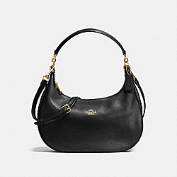HARLEY EAST/WEST HOBO IN PEBBLE LEATHER - f38250 - IMITATION GOLD/BLACK