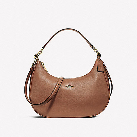 COACH f38250 EAST/WEST HARLEY HOBO SADDLE 2/LIGHT GOLD