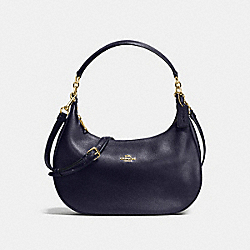 COACH F38250 Harley East/west Hobo In Pebble Leather IMITATION GOLD/MIDNIGHT