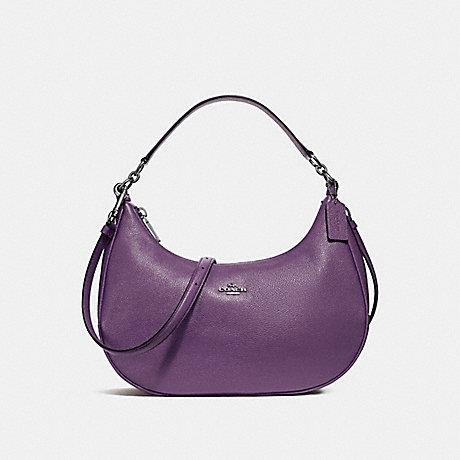 COACH f38250 EAST/WEST HARLEY HOBO SILVER/BERRY