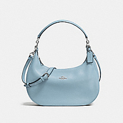 COACH F38250 Harley East/west Hobo In Pebble Leather SILVER/CORNFLOWER