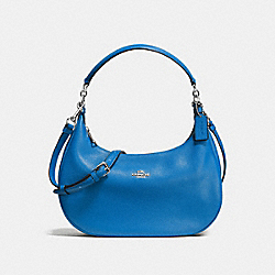 HARLEY EAST/WEST HOBO IN PEBBLE LEATHER - f38250 - SILVER/LAPIS