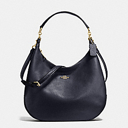 COACH HARLEY HOBO IN PEBBLE LEATHER - LIGHT GOLD/MIDNIGHT - F38259