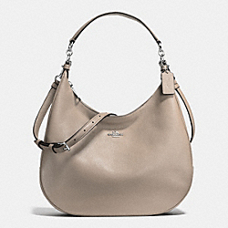 COACH F38259 Harley Hobo In Pebble Leather SILVER/FOG