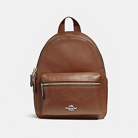 super cheap compares to famous designer brand novel style COACH F38263 - MINI CHARLIE BACKPACK - LIGHT GOLD/SADDLE 2 ...