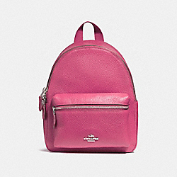 COACH F38263 - MINI CHARLIE BACKPACK SILVER/MAGENTA